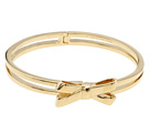 Kate Spade New York - Double Bow Hinged Bangle (Gold) - Jewelry