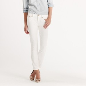 J. Crew Women's White Denim Toothpick Jeans