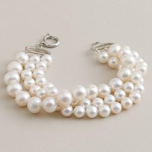 J. Crew Twisted triple-strand pearl bracelet