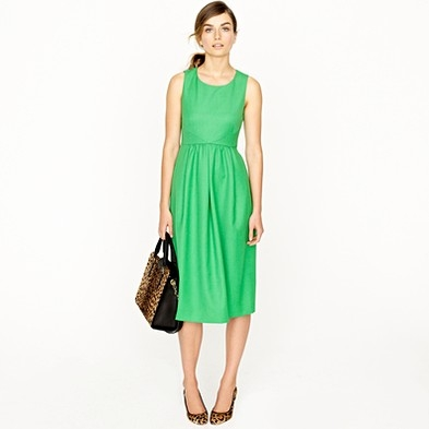 Madelene Dress in Wool Gabardine
