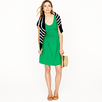 J. Crew Villa Dress in Light Emerald