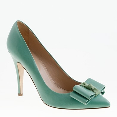 J. Crew Viv Pumps in Topiary