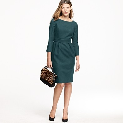 J. Crew Clea Dress in Vermont Pine