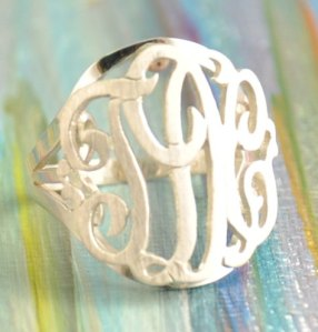 J. Crew Review + Pinterest monogram ring etsy shop