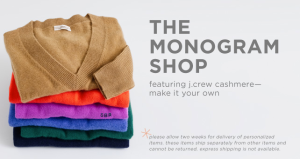 J. Crew the monogram shop