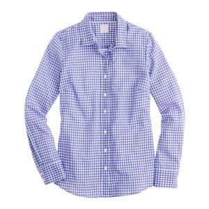 J. Crew Perfect Shirt Gingham + Mini Gingham