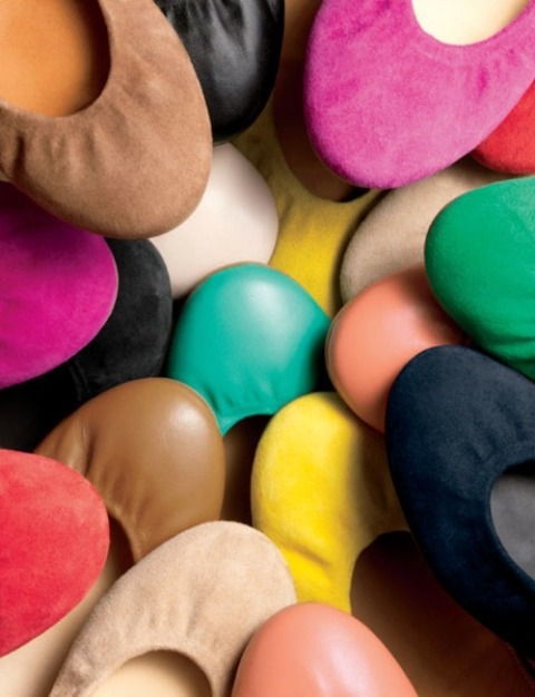 J. Crew colorful ballet flats Cece suede and leather