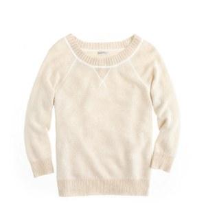 J. Crew Cashmere Two-Tone Sweatshirt