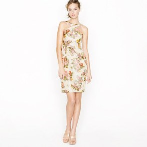 The Whitley Dress in Antique Floral - J. Crew