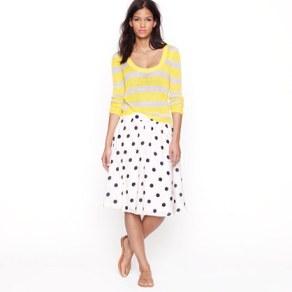 Scatter-dot Skirt - J. Crew Review Polka Dot