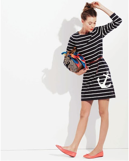 J. Crew Review Navy and White Maritime Anchor Dress