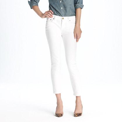 J. Crew White Cropped Matchstick Jeans via J. Crew Review Blog