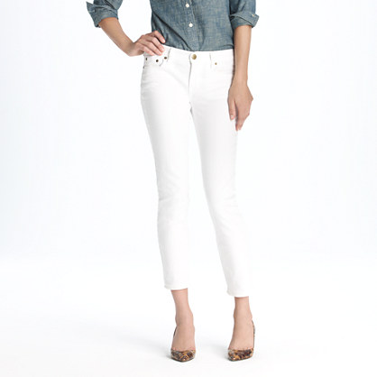 J. Crew White Cropped Matchstick Jeans via J. Crew Review Blog