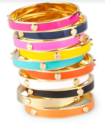 Brightly colored C. Wonder Bangle Bracelets