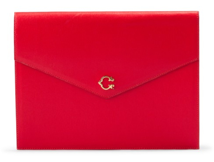 C.wonder Red iPad Clutch