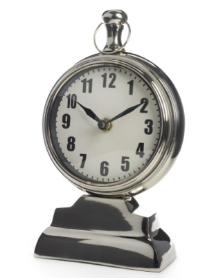 C. Wonder Silver Pedestal Clock