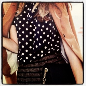 J. Crew Style Guide Polka Dot Shirts and Dresses Fall 2012